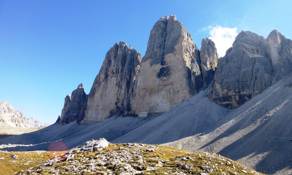 Hiking in the Dolomites following our trails
