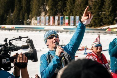 Biathlon WM Antholz | Sportmoderator Günther Leitgeb